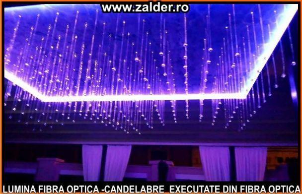 Candelabre lux fibra optica sala nunti evenimente hol hotel spa casa scarilor - Fibra optica en casa ...