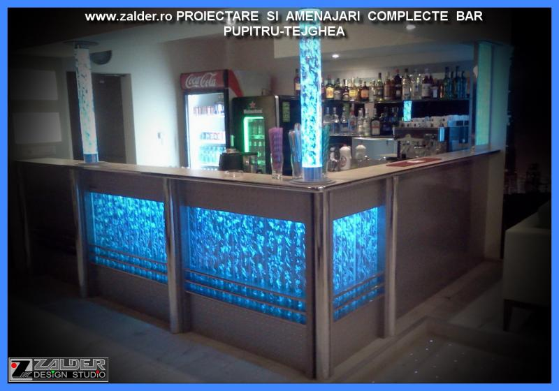Interior design lounge bar counter bubble wall - Wall bar counter ...